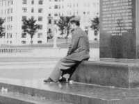 Taken Sept. 19, 1942 in Lake Front Park beneath Lincoln Statue facing the City.  [Courtesy of Jan Nadamoto]