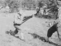 Taken Oct. 6, 1942 Dave Field at New Camp McCoy, Wis. Larry Nishimura.  [Courtesy of Jan Nadamoto]