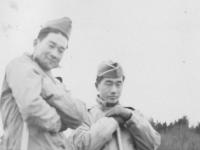 Oct. 24, 1942 at Old abandoned farm house at Camp McCoy (New).  [Courtesy of Jan Nadamoto]