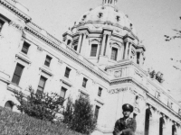 Oct. 3, 1942 at St. Paul, Minnesota on lawn of the St. Paul Capitol Bldg.  [Courtesy of Jan Nadamoto]