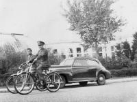 Oct. 4, 1942 Como Park, St. Paul, Minn. Bicycling thru park.  [Courtesy of Jan Nadamoto]