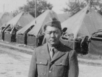 Shizue Takashige taken Sept. 1942 at Old Camp McCoy, Wis.  [Courtesy of Jan Nadamoto]