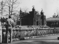 A picture of Monkey Island at the Zoo  Livingston Park, Jackson, Miss.-March 28, 1943.  [Courtesy of Jan Nadamoto]