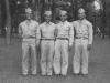 Taken July 5, 1942 at Tomah, Wisconsin.  Left to right- Fred Kanemura, myself, James Komatsu and Richard Oguro.  [Courtesy of Jan Nadamoto]