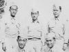 1942 Camp Shots - McCoy.  Taken July 21, 1942.  Yutaka, myself, Hisashi, Tom and Sada.  [Courtesy of Jan Nadamoto]