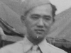 Sept. 1942 at Old Camp McCoy, Wis. Kenji Fukuda of our platoon.  Chef from Pearl City.  [Courtesy of Jan Nadamoto]