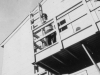 Taken Oct. 8, 1942 on the rear end of our barracks-second floor whre our platoon sleeps.  Steps-ladder & on left is the fire escape.  [Courtesy of Jan Nadamoto]