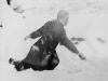 November 29, 1942 an action shot in a pit after I completed throwing snowballs.  [Courtesy of Jan Nadamoto]