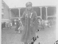 """Hi Rocky """"Mates"""" Ralph -Camp Randall Stadium Sept. 26, 1942.  [Courtesy of Rocky Nakahara]"""