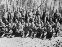 This is my platoon.  I'm at second row from the top and the third guy from that row.  [Courtesy of Rocky Nakahara]