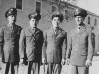 Left to right:  Jinnohara, Kunio Fujimoto, Rocky, Yozo Yamamoto. [Courtesy of Rocky Nakahara]