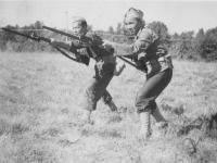 Left:  R. Yokoyama  Right: Kunio Fujimoto Oct. 1942.  [Courtesy of Rocky Nakahara]