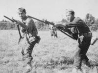 Left: Sgt. Miogi  Right: Furukawa -Judo Nidan Oct. 1942.  [Courtesy of Rocky Nakahara]