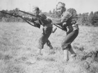 Left to Right: Jinnohara , Kinoshita Oct. 1942.  [Courtesy of Rocky Nakahara]