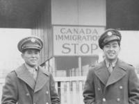 Kunio and me in Canada.  [Courtesy of Rocky Nakahara]