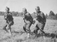 Left to right: Yours truly, Masaru Nanbara, Ralph Uyeda,  [Courtesy of Rocky Nakahara]