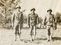 Motar Squad Gunner P-40 Nakamura, Asst Gunner Alfred Nozawa, Nakaya [Courtesy of Evelyn Nakaya]