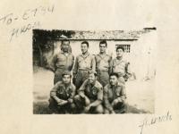 July 1944 - Rosignano, Italy  Group Photo to Etsu from Fundi [Courtesy of Evelyn Nakaya]