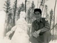 Camp McCoy 1943 Smiling Nishimura [Courtesy of Evelyn Nakaya]