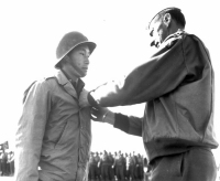 First Lt. Young Oak Kim given the Silver Star for action in Italy, April 1944 [University of Southern California Libraries]