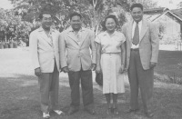 Jack and his two brothers and sister on Maui in 1946.  Left to right:  Shizu, Bert, Mitsie and Jack. [Courtesy of Nami Ann Mizuha Narimatsu]