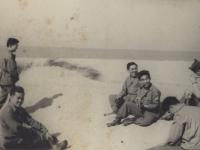 Tamura and Jack Morita with friends at Pen Beach May - '46 [Courtesy of Robert Arakaki]