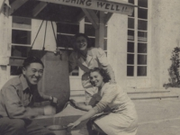 Kenji Torigoe with Red Cross Italian Girls, Torigoe [Courtesy of Robert Arakaki]