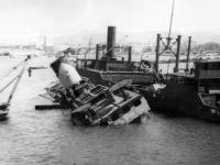 Damage in Italian port [Courtesy of Robert Arakaki]