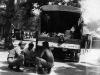 Akira Hata, Jack Morita, and Toshio Santoki on base  in Tambolo, Italy [Courtesy of Robert Arakaki]