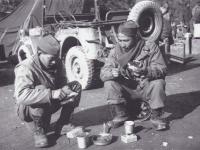 Herbert Tanaka and Stanley Hamamura Eating Breakfast [Courtesy of Fumie Hamamura]