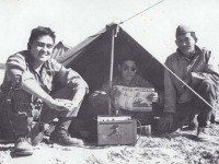 Stanley Hamamura With Ed. Okazaki 442 Italy 1944. [Courtesy of Fumie Hamamura]