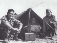 Stanley Hamamura With a friend and Ed Okazaki 442 Italy 1944 [Courtesy of Fumie Hamamura]