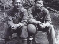 Issac Akinaka and Stanley Hamamura in Civitavecchia, Italy, 1944, [Courtesy of Fumie Hamamura]