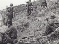 Major Fukuda and Col. Conley. Last Campaign Trail. [Courtesy of Fumie Hamamura]