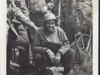 Col. Conley, Chaplain Yost and Captain Kometani. Last Campaign in Italy [Courtesy of Fumie Hamamura]