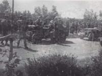 Secretary of War Henry L. Stimson Visiting Troops. [Courtesy of Fumie Hamamura]