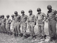 Officers from the 100th Battalion in Italy, 1945. [Courtesy of Fumie Hamamura]