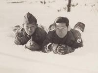 Stanley Hamamura and Itsuo Takahashi at Camp McCoy, 1942. [Courtesy of Fumie Hamamura]