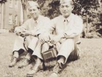 Stanley Hamamura and Fred Hosokawa at Drake University in Des Moines, Iowa, July 8, 1943. [Courtesy of Fumie Hamamura]