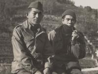 Soldiers in front of Anzio Beachhead, April 1944. [Courtesy of Fumie Hamamura]