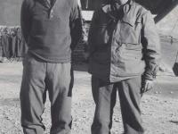 Stanley Hamamura and Lt. Katahara. [Courtesy of Fumie Hamamura]