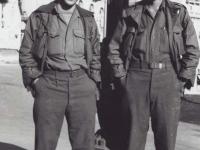 Seiji Adaniya and Toshimi Sodetani in France, 1944. [Courtesy of Fumie Hamamura]