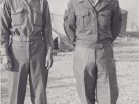 Stanley Hamamura and Supply Sgt. Jutei Kiyabu in Italy. [Courtesy of Fumie Hamamura]