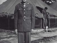 Stanley Hamamura in uniform at Camp McCoy, July 1942. [Courtesy of Fumie Hamamura]