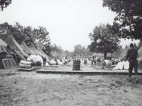 Moving from the old camp to the new Camp McCoy, Sept 1942. [Courtesy of Fumie Hamamura]