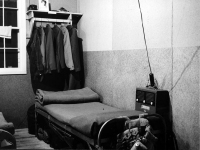 Stanley Hamamura's bunk at Camp McCoy, 1943 [Courtesy of Fumie Hamamura]