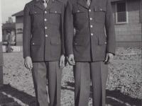 Stanley Hamamura and Sueo Noda at Camp McCoy, Wisconsin. [Courtesy of Fumie Hamamura]