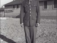 Sueo Noda at Camp McCoy, Wisconsin. [Courtesy of Fumie Hamamura]