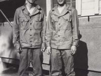 Sueo Noda and Stanley Hamamura at Camp Shelby, Mississippi, July 1943. [Courtesy of Fumie Hamamura]