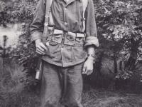 Stanley Hamamura in Louisiana during training maneuvers in 1943. [Courtesy of Fumie Hamamura]